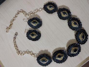 Сережки+ожерелье.Изделие ручной работы,один раз носила,в идеальном
