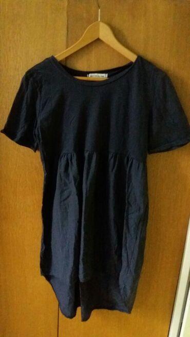 Ženska odeća | Leskovac: Zenska haljina-tunika teget vel l