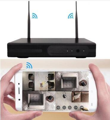 Ip камеры 11 9 wi fi камеры - Кыргызстан: Комплект беспроводных камер видеонаблюдения WiFi Full KIT 1080P ( 4