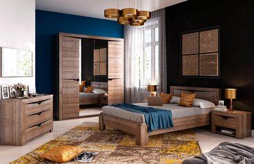 купить прицеп легковой в Кыргызстан: Сорренто - спальный гарнитур в наличии в цвете Дуб сонома.  Модель из