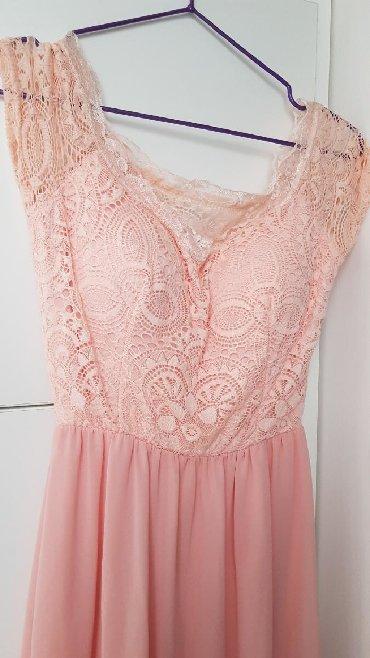 Suknja duzina - Srbija: Nova. Svecana maxi haljina sa cipkom. Ima gumu u struku, rasteze se