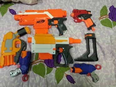Nerf guns, They in a really good condition rather than buying New take