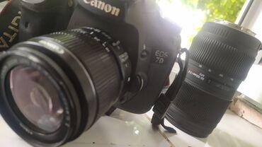 Электроника - Сузак: Продам Canon 7D со стандартным объективом и объективом SIGMA