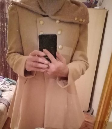 Ramena-sirina-cm - Srbija: Koton kaput. Bez boja. 40br. 44cm sirina ramena.43,5 cm struk