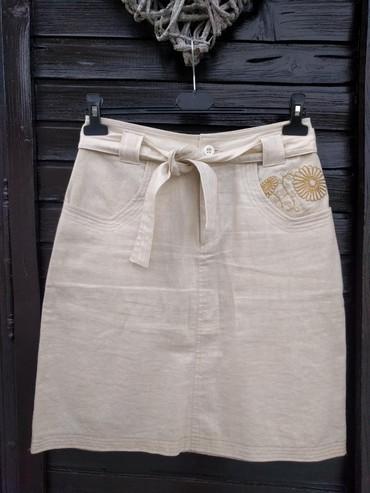 Suknja-hm-pamuk-elastin-cm-struk - Srbija: Legend suknja 55% lan 45% pamuk, polustruk 38 cm dužina 54 cm