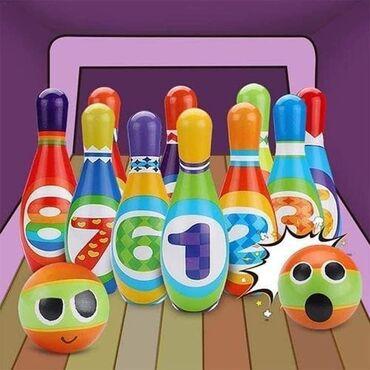 Set za kuglanje izrađen od EVA peneNamenjen deci utrasta 1+god.Sadrži