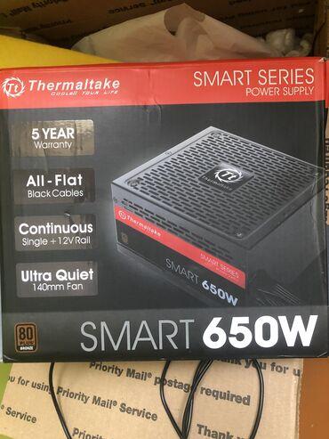 Thermaltake smart 650 w teze zakazla getrilir yarisini qabagcadan
