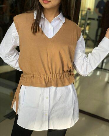 Двойка😍 рубашка+жилетка  Качество 🔥