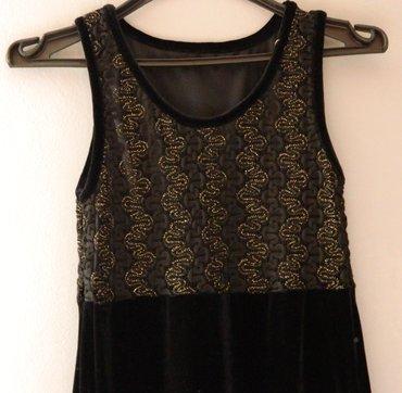 Crna duga pliš haljina - Sabac
