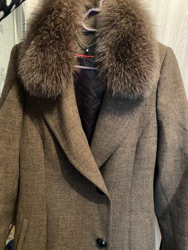 зимние пальто бишкек в Кыргызстан: Пальто кашемир ворот натуральный песец