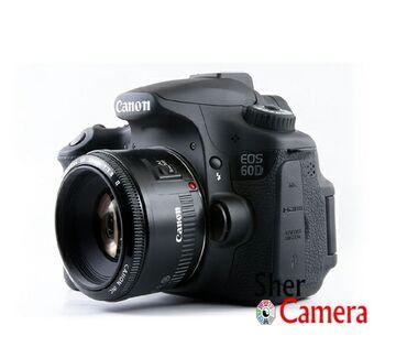 50mm - Azərbaycan: Canon 60D. Grip. Blenda. V spiçka. Godoks bluthuz. Çanta. 50mm