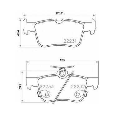 Ford Fusion arxa əyləc bəndiEylec bendi arxa DG9Z-2200-NFusion arxa