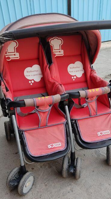 Детский мир - Полтавка: Коляска для двойни. Б/у 3000 сом. Коляска 4500сом. Б/у
