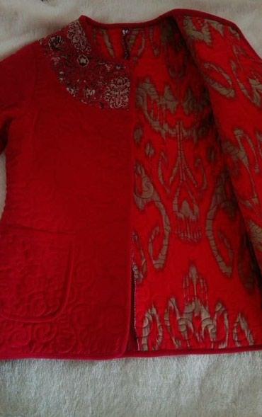 Стёганый пиджак в нац. стиле. Новый. Размер 48 Торг уместен. в Бишкек