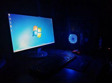 компьютеры рабочие в Кыргызстан: Полный комплект!!!! Игровой компьютер В комплекте: Монитор AOC 23