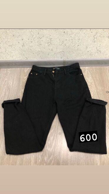 Утеплённые джинсы мом размер М (почти новые)