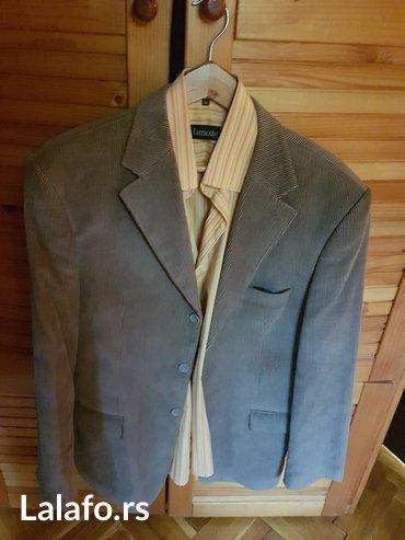 Muška odeća | Kikinda: Muski sako sa kosuljom. Kvalitetno i noseno svega nekoliko puta