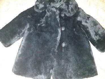 черная шубка в Кыргызстан: Цигейковая шубка, на 1-2 годика, состояние отличное