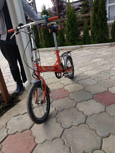 Спорт и хобби - Чок-Тал: Велосипед Складной б/у с амортизатором, с 5 лет и старше можно