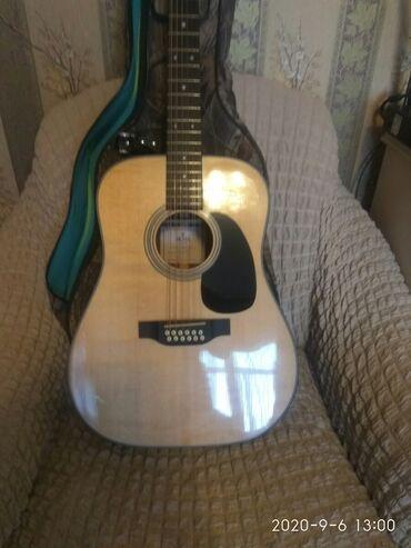 Музыкальные инструменты - Бишкек: Продаю новую двенадцатиструнную гитару,Sigma Model DM12-1ST+.передняя