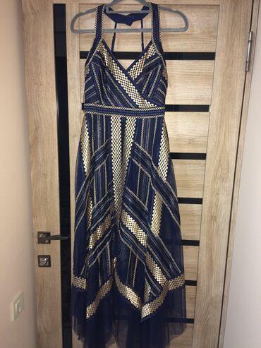 вечернее платье в пол синего цвета в Кыргызстан: Дизайнерское платье от MaxAzria!заказывала со штатов! обсолютно новое