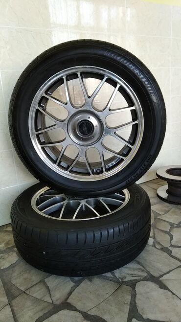 """шины 215 55 17 в Кыргызстан: Продаю диски с резиной """"BRIDGESTONE""""   Размер: 215/55/R-17  Диски 4 шт"""
