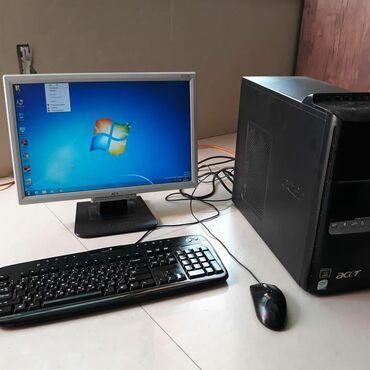 Kompüter, noutbuk və planşetlər Ağcabədida: Processor Quad core 4 nüvə. Ram 2 GB. Hard disk 320 GB. 1GB videokart