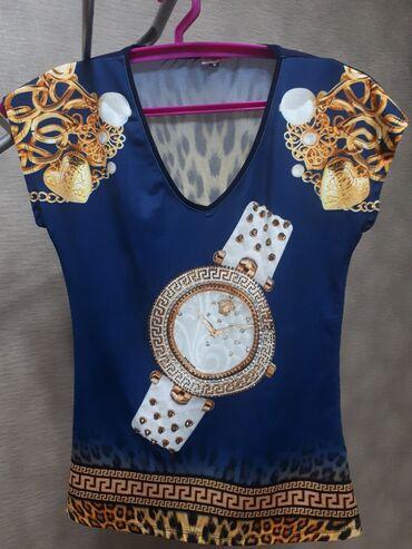 �������������� �������� ������������ в Кыргызстан: Стильная женская футболка из микромасло и сетки. Оригинальный крой