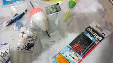Ειδή ψαρέματος 50 λεπτα το τεμαχιο καινούργια και αχρησιμοποίητα στις