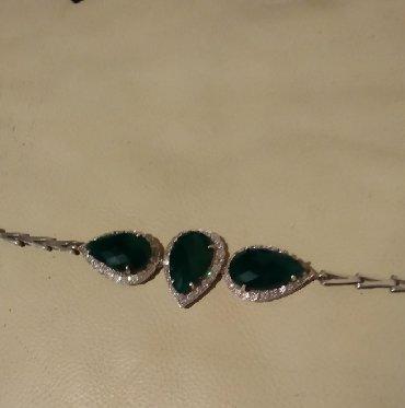 Свадебные аксессуары - Кыргызстан: Серебро браслетс натуральными камнями,цена 2200,обмена нет