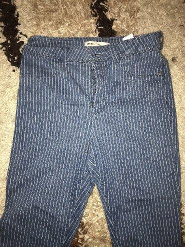 Pantalone uz telo - Srbija: Pantalone, kao farke, uz telo, duboke, vel 38.Po meni moze i m i L. No