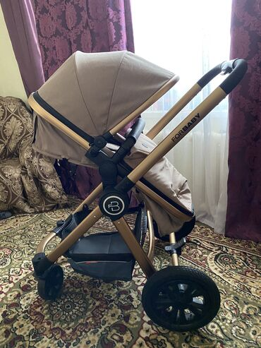 """удобные коляски для новорожденных в Кыргызстан: Абсолютно новая коляска """"For baby """" люлька съёмная,на амортизаторе,мех"""