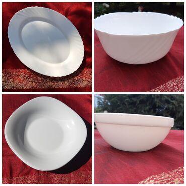 Набор новой испанской посуды 8 единиц : Тарелки 3; салатница большая 1
