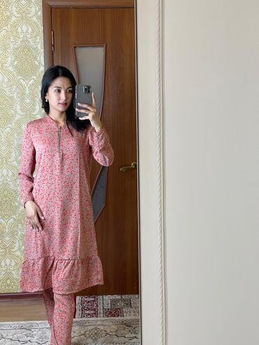 Другая женская одежда - Кыргызстан: 🔸Двойка ткань прадо, размер 46-52🔸Платье с косынкой ткань штапель