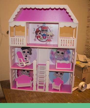дом-для-кукол в Кыргызстан: Кукольный домик для Лол, из Форекс. Покраска по вашему выбору