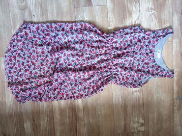 Haljine | Novi Banovci: Letnja cvetna haljinica sa postavom. Napred je kraca nazad je duza