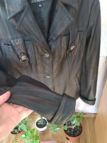 Продаю кожаный пиджак б/у, размер 2ХLцвет темно коричневый,кожа