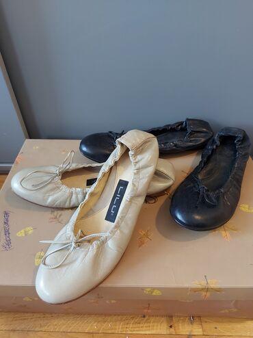 Kozne flekica samo - Srbija: Baletanke kozne,rucno radjene.Bez nekoriscene a crne samo par puta