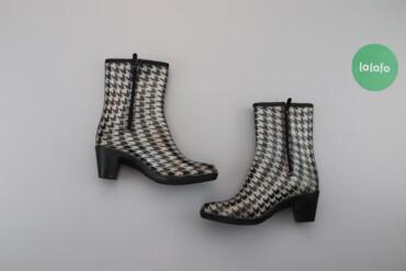 Женская обувь - Украина: Жіночі резинові чоботи на підборах Dual, p. 37    Довжина підошви: 23