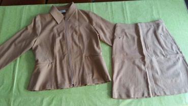 Kostimi - Srbija: Komplet suknja i sako vel. 42,polovan ali jako malo nosen.Kupljen u