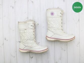 Детский мир - Украина: Дівчачі білі зимові чоботи, 25 см    Колір білий Довжина підошви 25 см