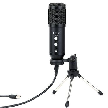 Спорт и хобби - Бишкек: USB конденсаторный микрофон Bm-800 Pro (на триноге) БишкекНикогда не