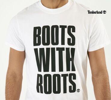 Majica muska m - Srbija: Timberland-Boots with roots-Original muska majica u M velicini