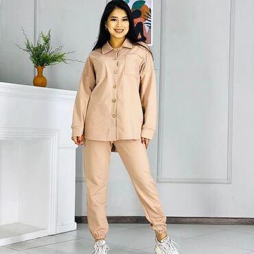 Рубашки и блузы - Кыргызстан: Бомбические🔥🔥🔥двойки Ткань Двухнитка 🇹🇷🇹🇷🇹🇷 Размер м л повтор 👍🏻 Цена
