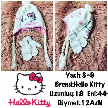 Dest:Yash:3-9 Brend:Hello Kitty Uzunluq:18 Eni:44+ Qiymet:12AzN