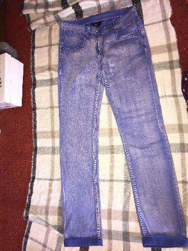 Plave pantalone - Srbija: Zenske pantalone lila/ljubicasto/plave; ni jednom nisu nošene;
