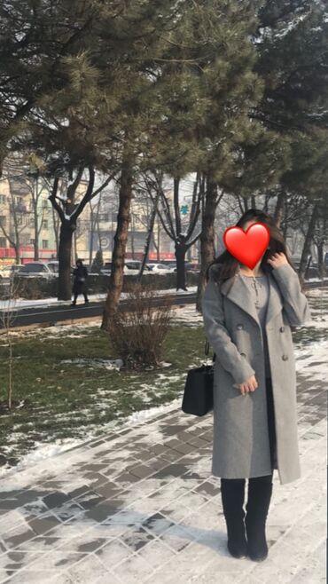 Серое пальто с ремнём  Рост девушки на фото 160 Абсолютно новое, носил