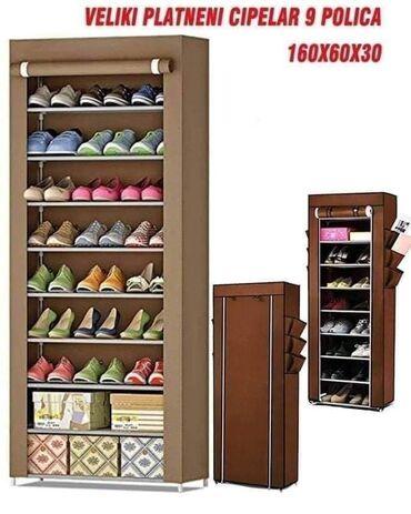 Nameštaj - Futog: Platneni cipelarnik sa 9 policaDimenzije 160x60x30Materijal : čvrsto