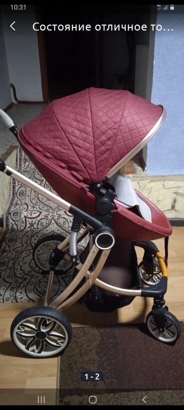 Детский мир - Чолпон-Ата: Продаю коляску .дома пользовались .2в1.до 3 лет