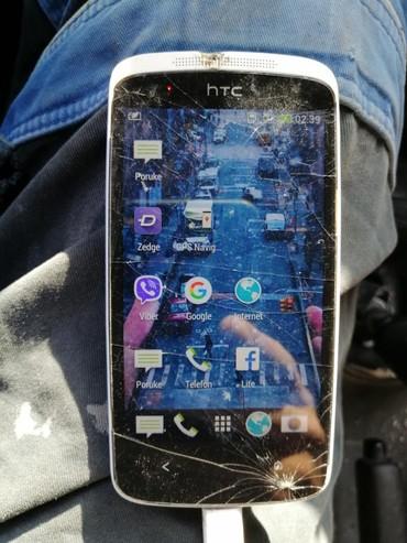 HTC u ispravnom stanju baterija dva. Dana kartica fre punjač